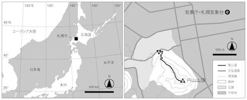 札幌市の調査地