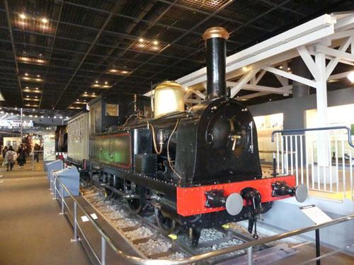 開業時に使われた1号機関車