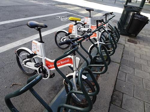 自転車専用レーンとレンタルバイク