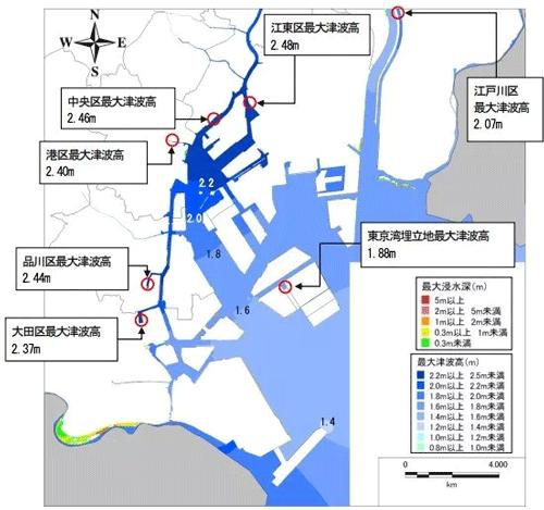 東京都内の地震津波の被害