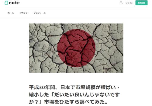 平成30年間、日本で市場規模が横ばい・縮小した「だいたい良いんじゃないですか?」市場をひたすら調べてみた。