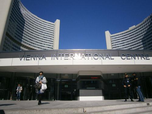 ウィ―ンの国連機関の正面入口