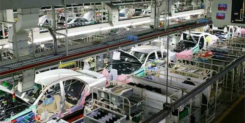 自動車生産の場