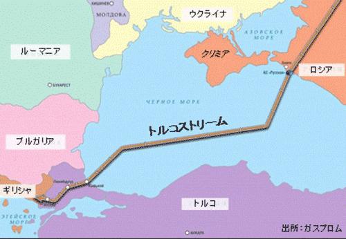 トルコストリーム地図画像
