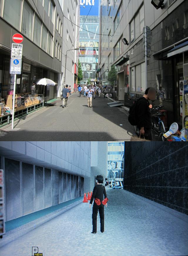 正面に見えるAOKIの広告写真まで再現されている。