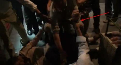 反原発デモで逮捕 関電前報道の不審な写真