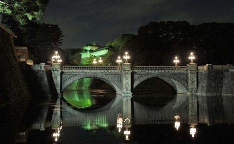 皇居二重橋等のライトアップ