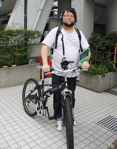 """自転車の 自転車 車載カメラ 振動 : 自転車に乗って""""生放送""""する ..."""