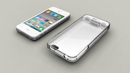 『iPhone 4』用バッテリーケース『exolife(エクソライフ)』ホワイト