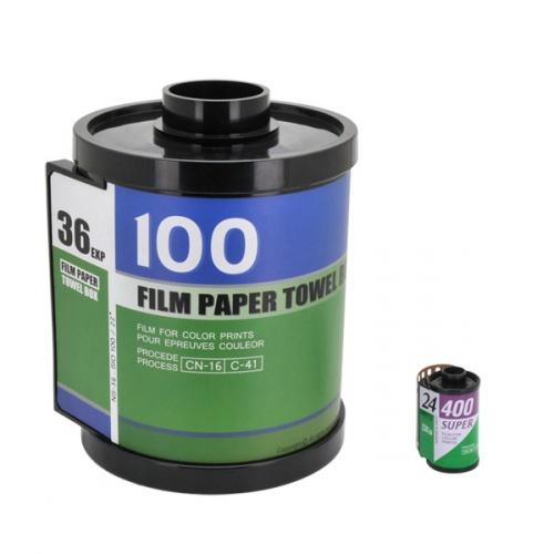 『フィルム形ティッシュホルダー』は、35mmフィルムをモチーフにしたロ... 36枚撮りではない