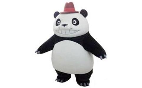 パンダコパンダのパパンダ、上野動物園モノレール一日駅長