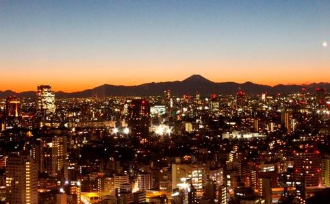 東京タワーから見える ダイヤモンド富士