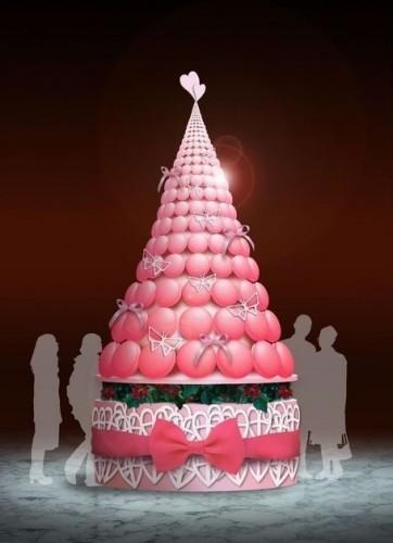 帝国ホテル『スイーツアート展2011』 マカロンタワーのクリスマスツリー