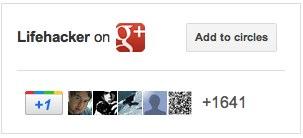Google+バッジ設置例(Lifehacker)