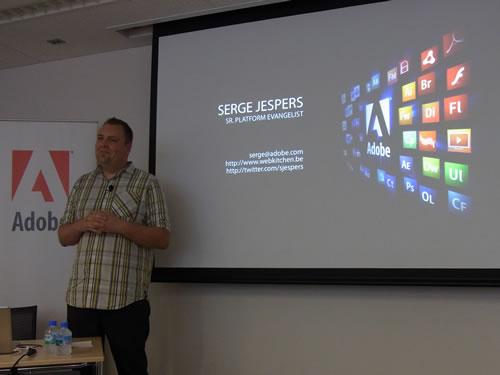 Adobe Systems社 シニアプラットフォームエバンジェリストのSerge Jespers氏