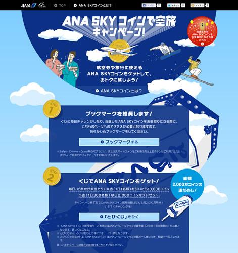 旅行にも使える『ANA SKY コイン』が総額2000万円当たる『とびくじ』に挑戦してみた