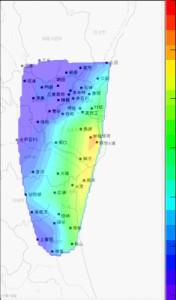 茨城県東部 放射線モニターデータ解析