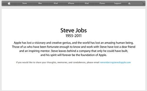 スティーブ・ジョブズ氏を悼むアップルのコメント