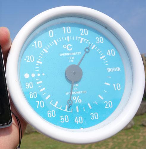 気温は27℃