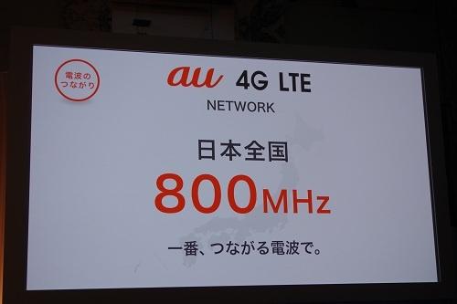 800MHz帯でLTEサービスを提供