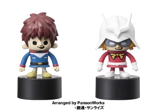 キャラクターはアムロ・レイとシャア・アズナブルの2種類