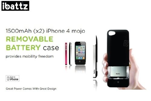 iBattz Mojo Battery Case REMOVABLE
