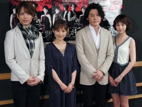左から山崎育三郎さん、安倍なつみさん、河村隆一さん、平野綾さん