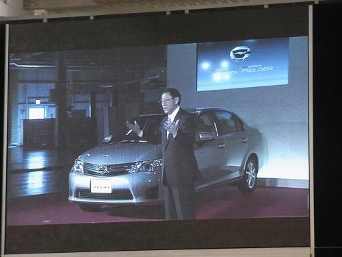 トヨタ自動車の取締役社長である豊田章男氏が宮城工場からあいさつ