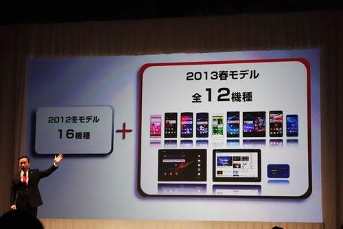 【ドコモ2013春モデル発表会】イチ押し『Xperia Z』や2画面『MEDIAS W』に1万円以下の『dtab』などスマートフォン9機種とタブレット2機種を発表