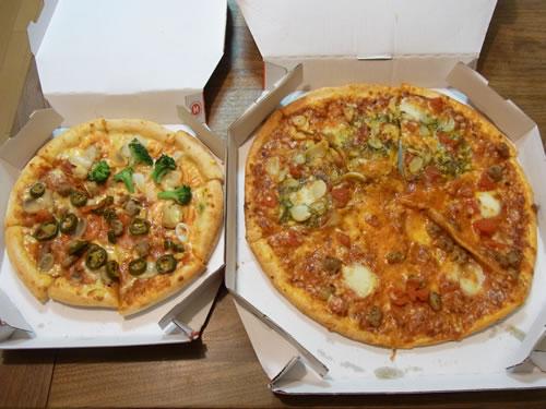 4880円分のピザ。無料でおいしくいただきました