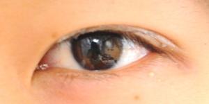 オレンジで作った目皮膜