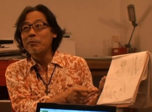 絵を描く鍋島さん