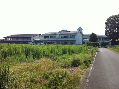 浪江町立大堀小学校全景