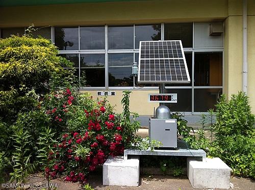 富岡第二小学校:校長室とモニタリングポスト