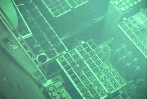 4号機燃料プールの映像