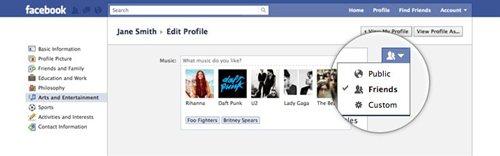 Facebook機能改善 プロフィール公開設定