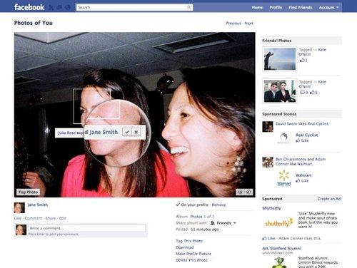 Facebook 写真のタグ削除機能