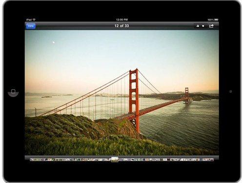 iPad向け Facebookアプリ 写真表示