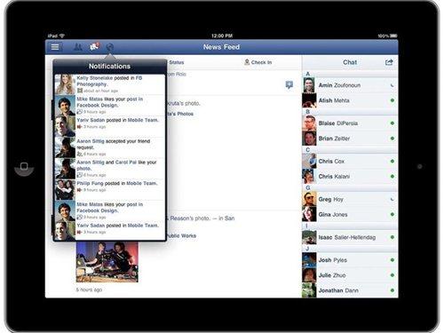 iPad向け Facebookアプリ