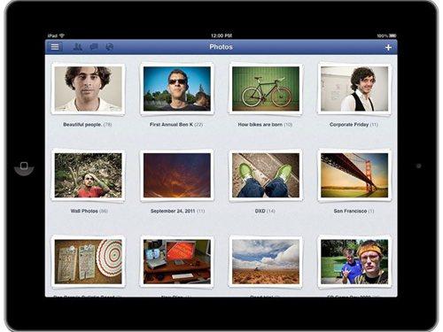 iPad 向けFacebookアプリ 写真アルバム