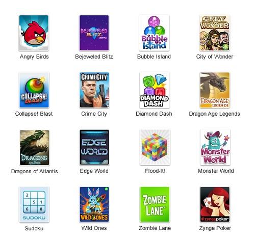 Google+に追加されるゲームラインナップ