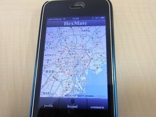 地図上の同じ六角形(ジオヘックス)にいるユーザー同士でプロフィール交換できる『HexMate』