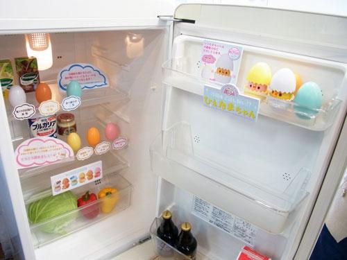 冷蔵庫を開けるとひよこがおしゃべり