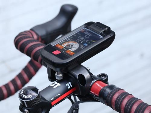 『iPhone/iPod touch』アプリ連動&ANT+対応バイクマウント『iBike iDash CC』