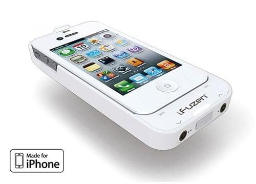 『iPhone 4』用アンプ内蔵バッテリーケース『i.fuzen HP-1』 ホワイトモデル