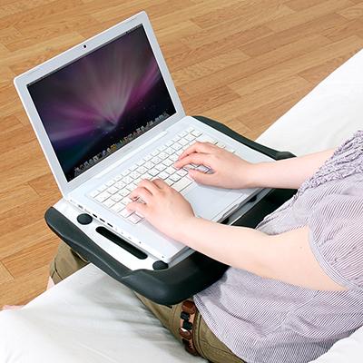 ノートパソコン膝置き台 100-CR006