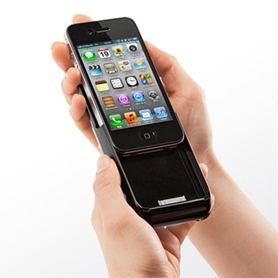 iPhone プロジェクター(iPhone 4/4S対応、バッテリー内蔵、一体型)400-PRJ011