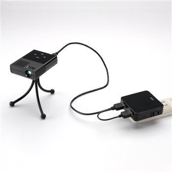 モバイルミニUSBプロジェクター(PC画面表示&SDカードスロット付)400-PRJ006