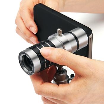 iPhone 4/4S用望遠レンズキット『400-CAM009』
