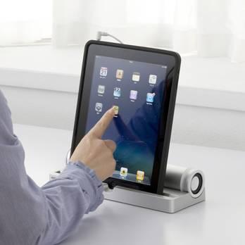 iPad スピーカー付きスタンド